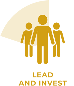 Lead and invest icon.