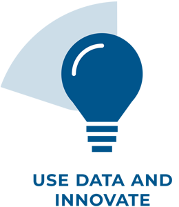 Use data and innovate icon.